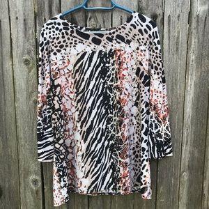 Liz Claiborne animal print large blouse